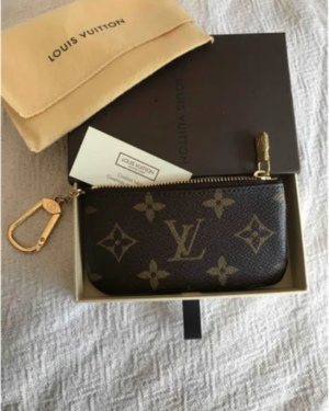 Louis Vuitton Key Pouch Monogram Brown in Canvas with Brass
