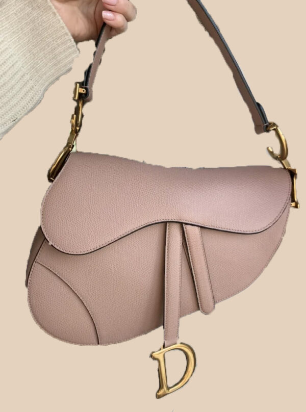 Dior Saddle Beige Leather Bag