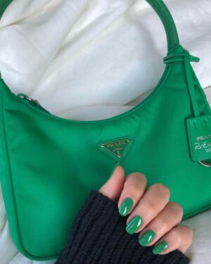 Prada Re-edition 2000 Green Bag 7
