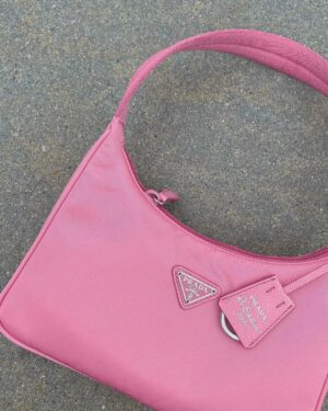 Prada Re-edition 2000 Hobo Pink Bag 1